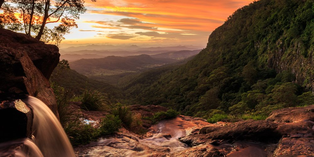 Moran Falls Sunset Panorama | QLD