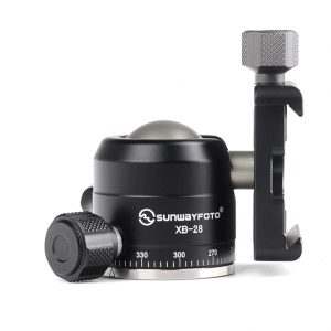 Sunwayfoto XB-28 Professional Low-Profile Ball Head with Screw-Knob Clamp