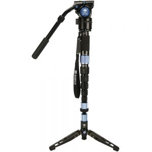 Sirui P-326SR Carbon Fiber Photo/Video Monopod with VH-10X Video Head