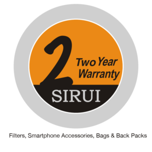 Sirui 6-year warranty filters, smartphone accessories, bags, back packs