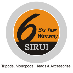 Sirui 6-year warranty tripods, monopods, heads