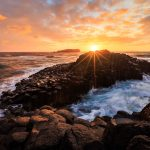 Giant's Causeway sunrise, Final Head, NSW, Australia