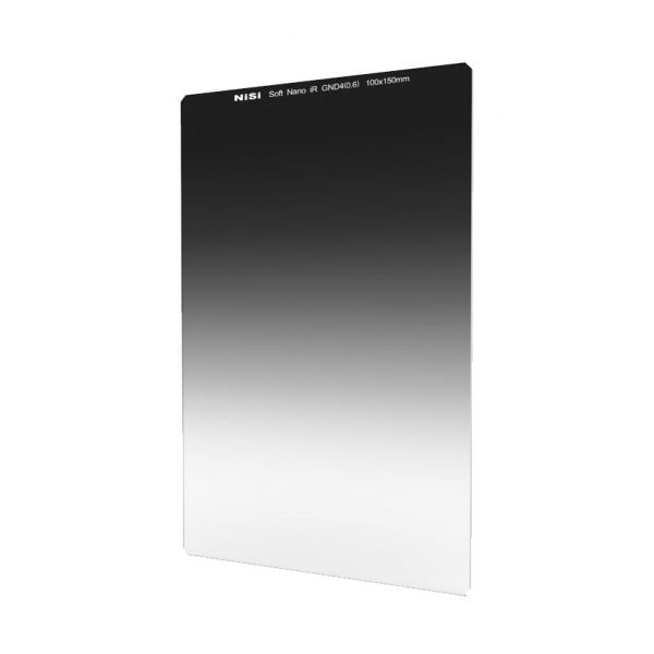 Nisi 100x150mm Nano IR Soft Graduated Neutral Density Filter – ND4 (0.6) – 2 Stop
